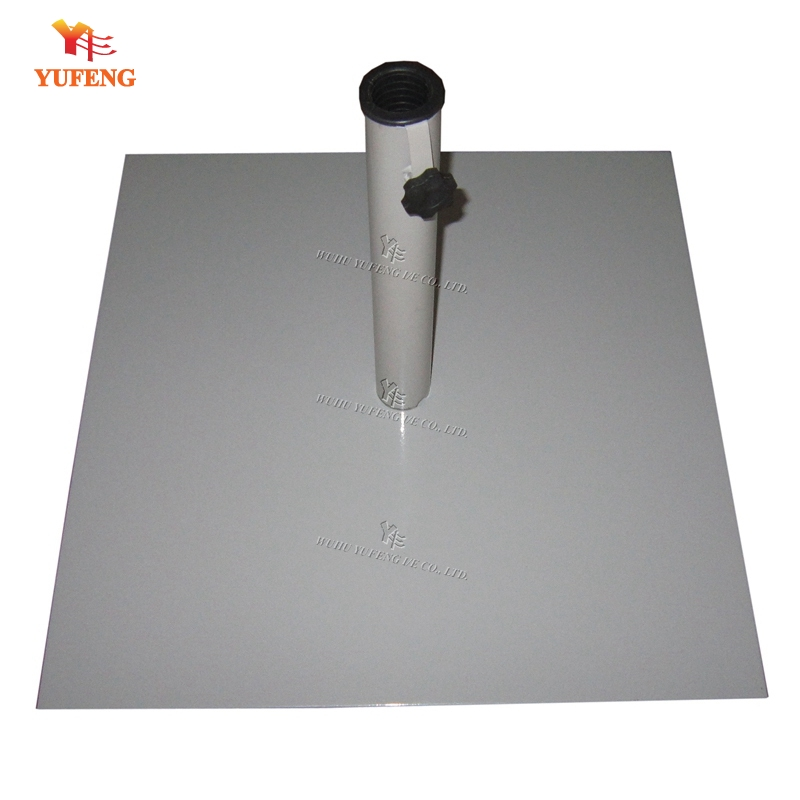Steel plate umbrella base/flate steel parasol stand