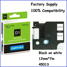 3PCS Compatible Dymo Labelmanager 12mm D1 Black on White Dymo Maker 45013 Label Tape Cartridges Free Shipping (Factory Supply)