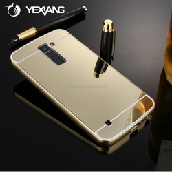China wholesale cell phone cover for lg g2 aluminum metal bumper case