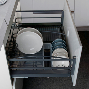 Nano Dry Plated Kitchen Cabinet Drawer Sliding Split Basket Wire Pull Out Basket