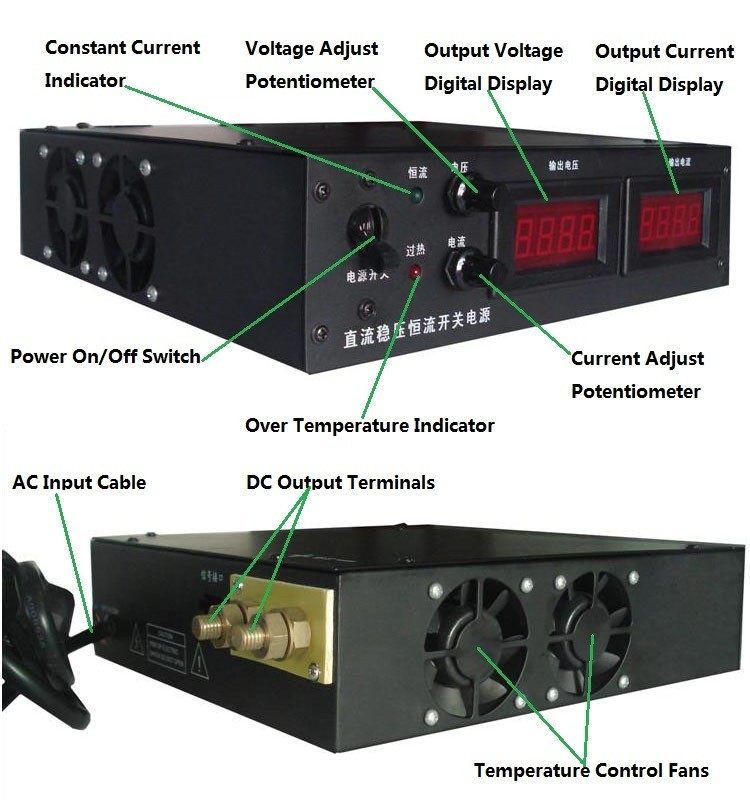 0-1000v 10a dc power supply