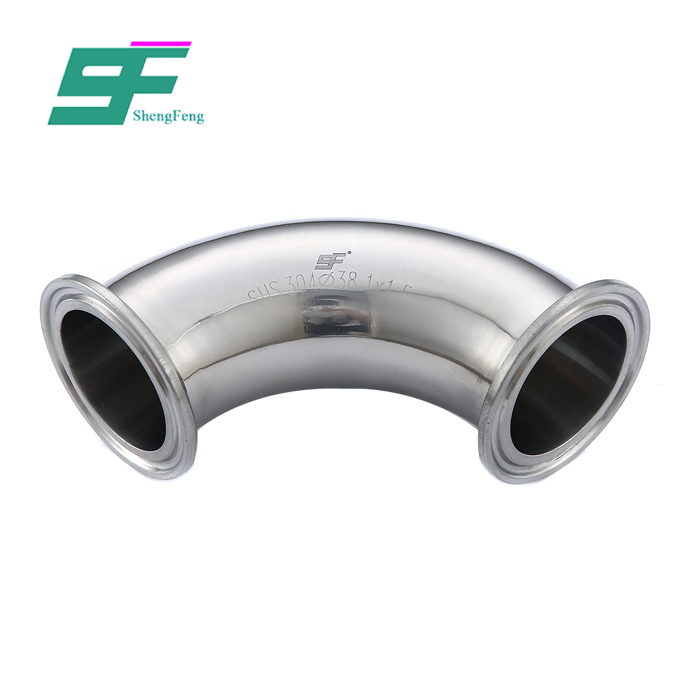 Exquisite workmanship stainless steel pipe fittings 45 degree clamped sanitary elbow