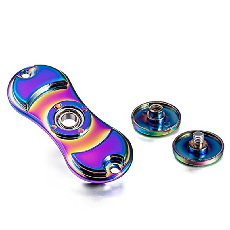 rainbow fidget spinner good quality hand spinner stress release hand spinner with triangle shape
