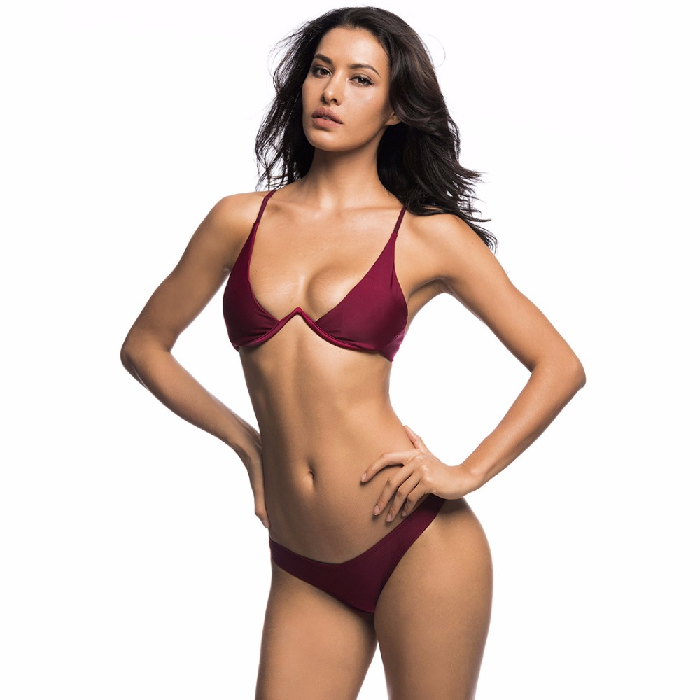 <strong>New</strong> <strong>Sexy</strong> <strong>Bikini</strong> 2019 Female Swimsuit Women Swimwear Two-piece V shape Bathing Suit