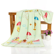 Quick-dry soft and comfortable multi-colored printed washcloth baby towel