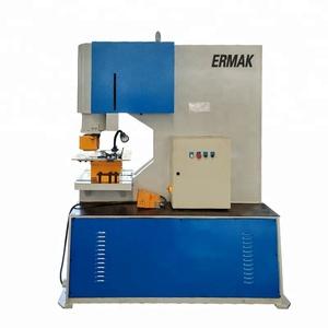 ERMAK High quality Q35y Hydraulic Punch Press Machine Hydraulic Hole  Punching Machine Iron Worker