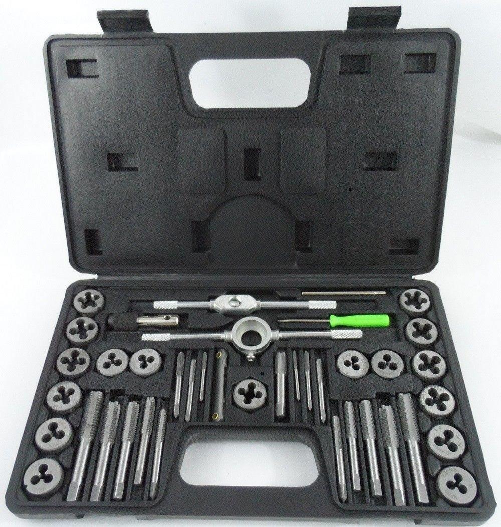 Npt Threads Set 6 Pc Wooden Case Hcs Taper Pipe Tap Set by Hanson
