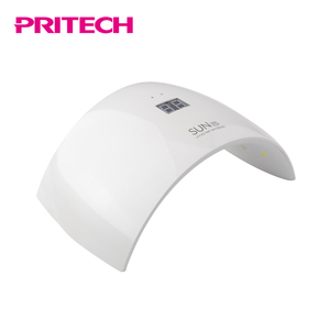PRITECH Professional Double Light Source Rechargeable UV LED Nail Lamp