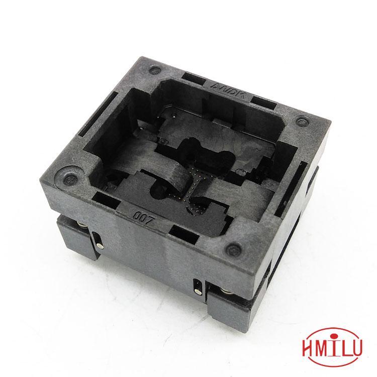 BGA67-0.8 OPEN TOP Burn in socket pin pitch 0.8mm IC size 10.5*13mm BGA67(10.5*13)-0.8 BGA67 VFBGA67 burn in socket