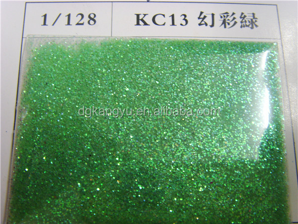 new product 2016 China Supplier christmas rainbow glitter powder