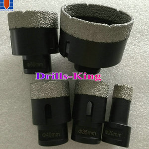 M14 core drill bit/ hexagon diamond hole saw/ round shank brazed diamond core drills