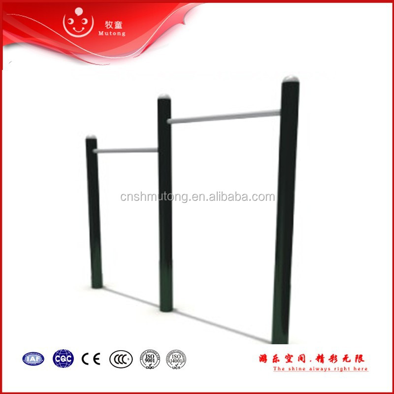 Zinc pipe double horizontal bar outdoor pull up bars