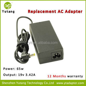 Laptop Charger For 19v 3.42A 65W AC Adapter Battery