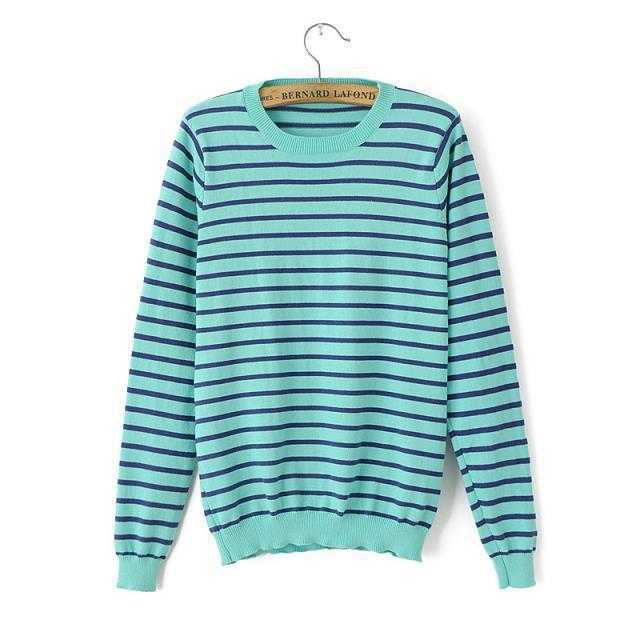 Free Shippingfall 2015 the new Europe wind streaks anchor patch long sleeve sweater sweaters womens clothes 1439923427