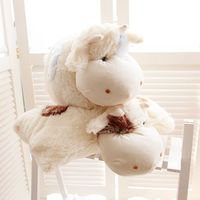 2016 alibaba cutom plush pillow cow stuffed plush animal toy pillow white