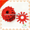 Felt die cut snowflakes- RED Christmas decoration ornaments