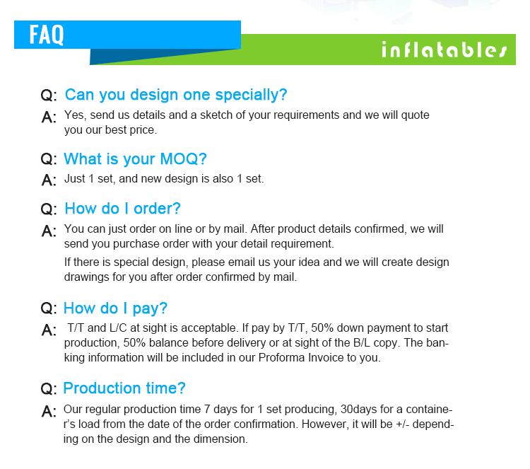 Hot Sale EN14960 Certificate Multicolor inflatable dry slides for sale