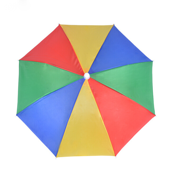Cheap Custom rainbow camping and fishing Cap Umbrella Hat for outdoor