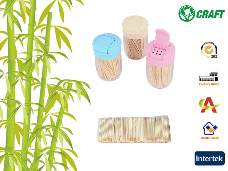 Disposable food grade pocket mint bamboo wooden toothpicks