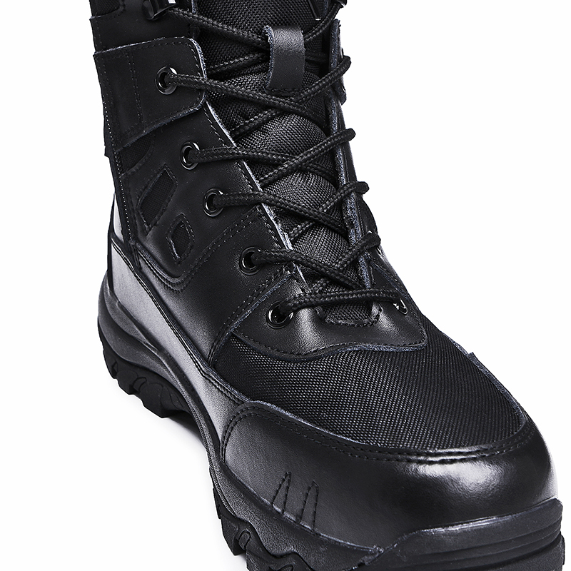 Custom military training black boots tactical army police combat boots