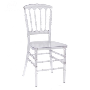 Factory sale popular stacking events crystal clear napoleon chair