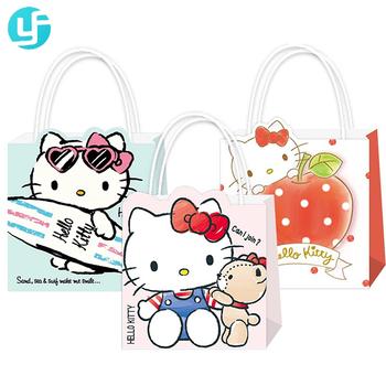 8e2ef276ad74 Fashion Design Reusable Cute Hello Kitty Handle Paper Bag For Gift ...