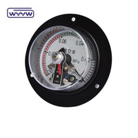 Electric contact type pressure gauge with front flange