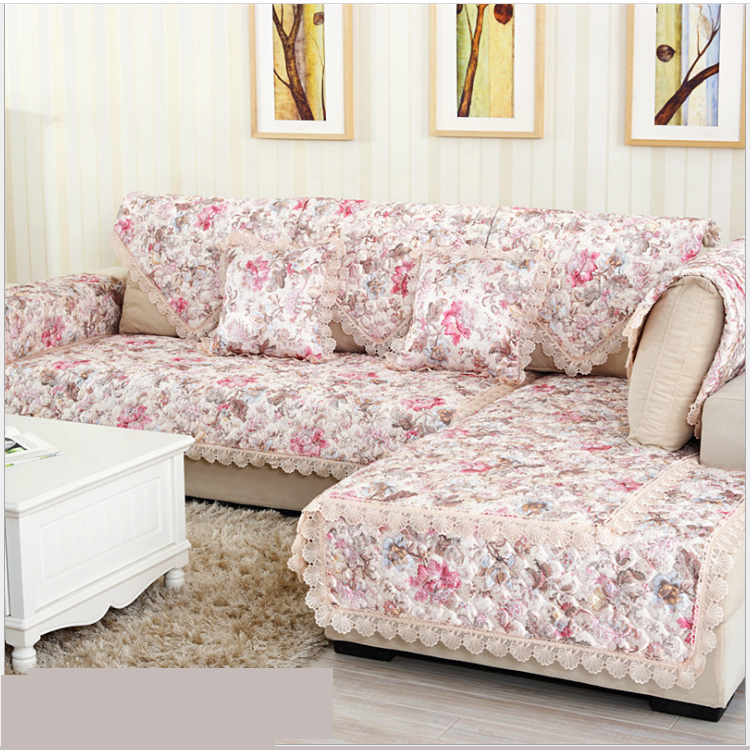 3d flower printed flame retardant embroidered 100 polyester sofa cover