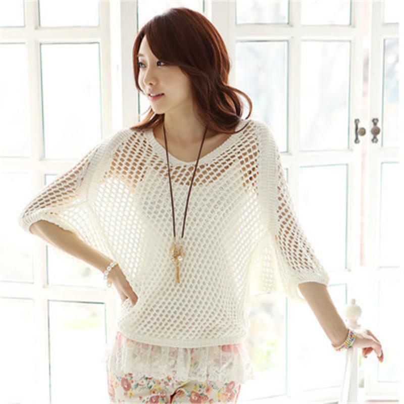 0e3f014d8cf40 Women Tops And Blouses 2015 New Fashion Vetement Femme Hollow Out Lace  Elegant Crochet Shirt Blusas