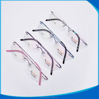 China wholesale frameless B titanium eyeglasses for ladies