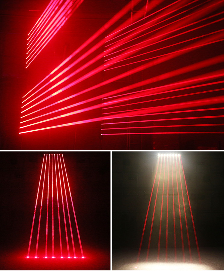 led+laser 8 eyes  moving head array beam light bar HS-LLM88