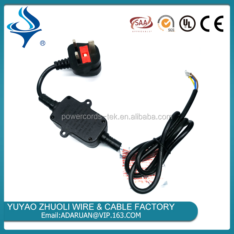 Saudi Arabia SASO AC Power Cord with Leakage Protection Device