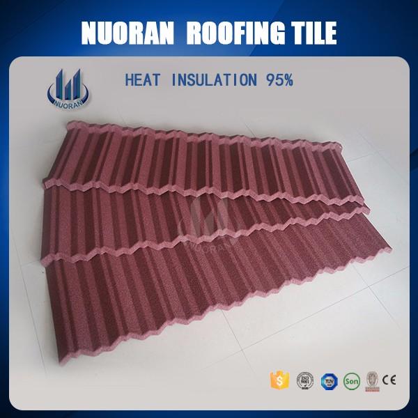 Nuoran usine haute qualit tuiles de toiture pour maisons pas cher plat tuiles prix couleur for Prix tuile fond plat