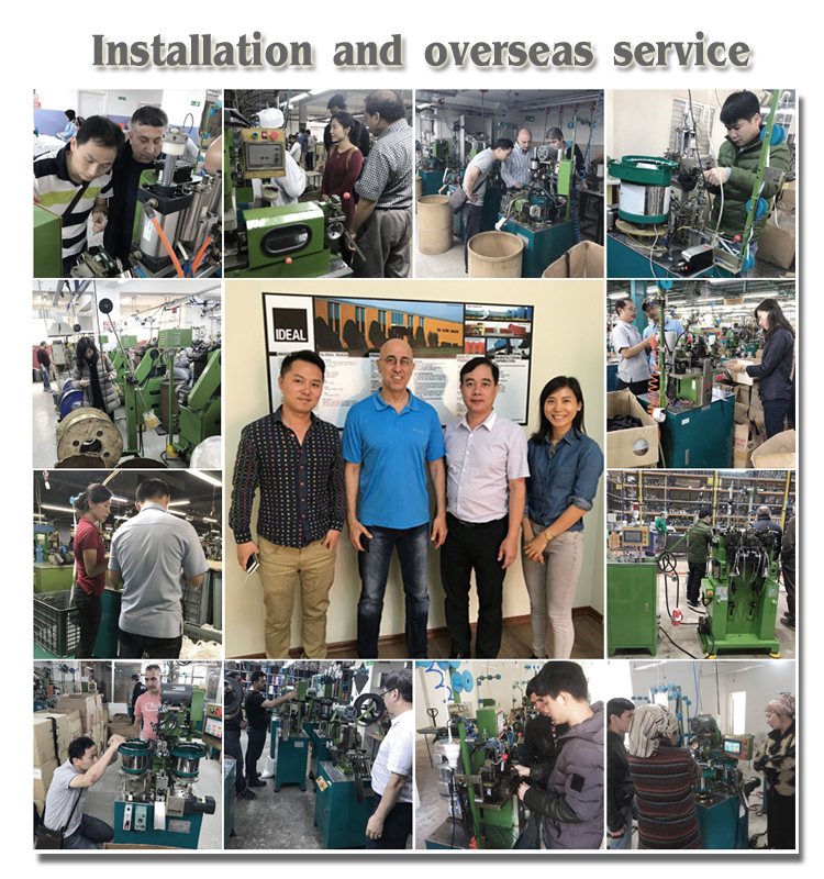 Vollautomatische Nylon-Reißverschlussmaschine mit Bodenanschlag