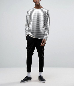 crew neck blank oversized stripe sweatshirts