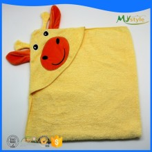 new design animal vivid children baby style cotton or microfiber square baby hooded cuddle