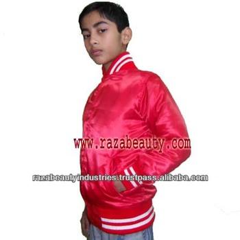 60e9f0fb6b432 Kids Red Satin Varsity Jackets