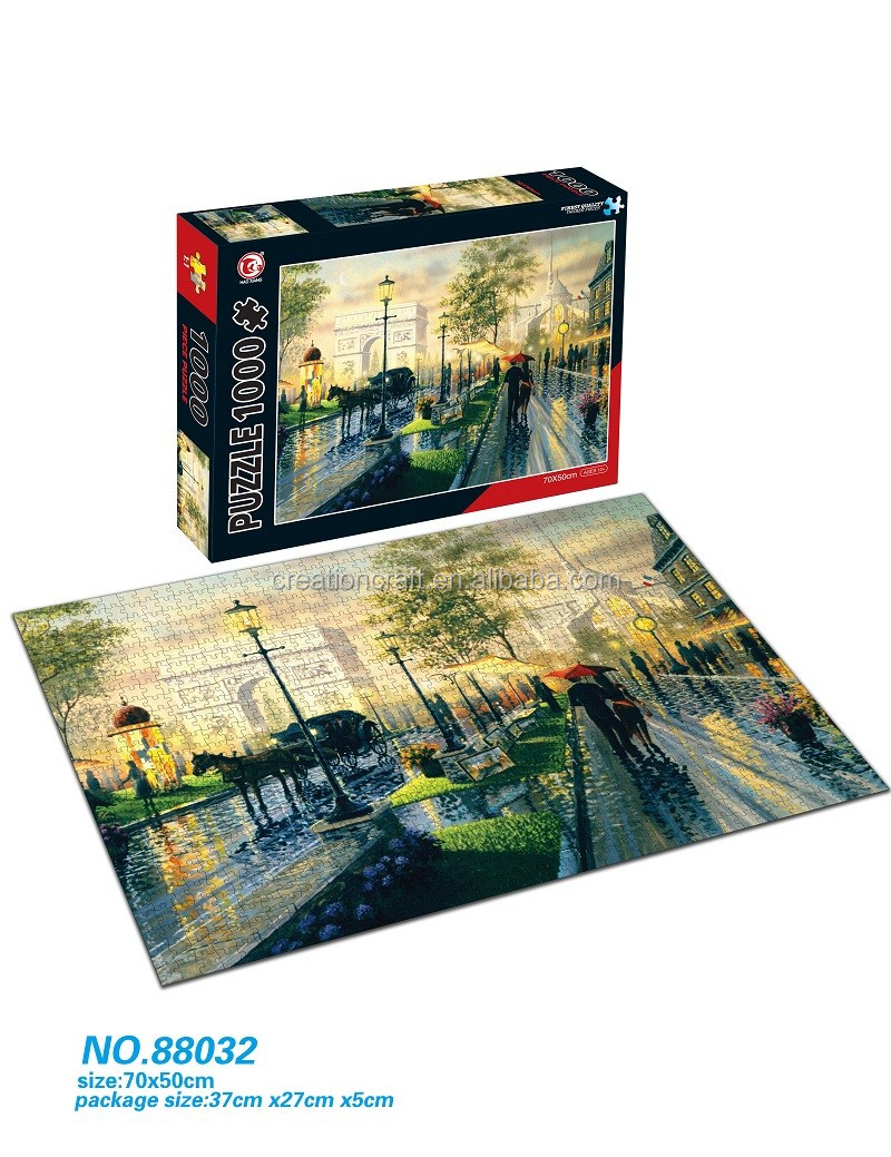 Custom printing 1000 piece jigsaw puzzles for friends for Custom 5000 piece puzzle