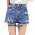 Summer Fashion Hole tassel High Waist Women Denim Shorts Female Casual Shorts