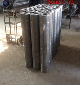 Good ventilated different types heavy raw materials flat filtration metal weave wire mesh manufacture