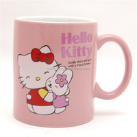 11OZ custom made ceramic mugs with hello kitty