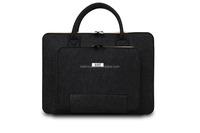 BUBM wool felt 13 inch black laptop computer bag
