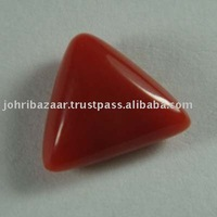 Italian Red Coral Trillion Shapped