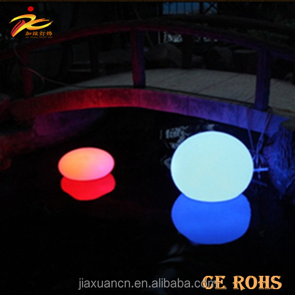 2017 hot sale and popular led garden ball with remote control