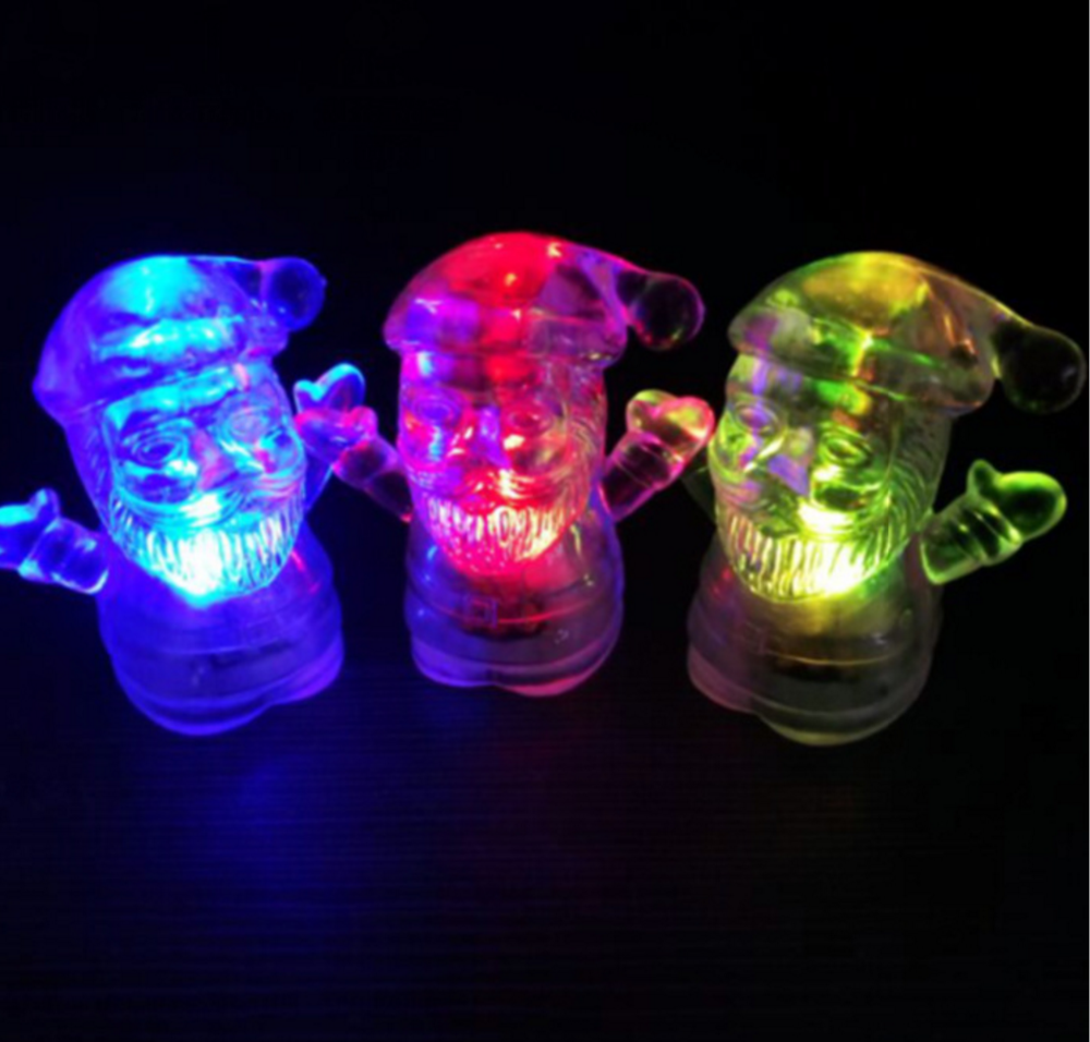 Factory Price LED Glass light Santa Claus with base and led light for Christmas gift