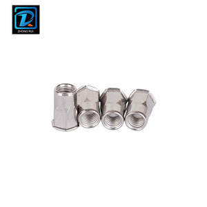 Stainless Steel Countersunk Head Half Hex Rivet Nut