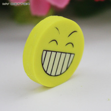 1pcs Smile Face Erasers Rubber for Pencil Kid Funny Cute Stationery Novelty Eraser Office Accessories School Supplies