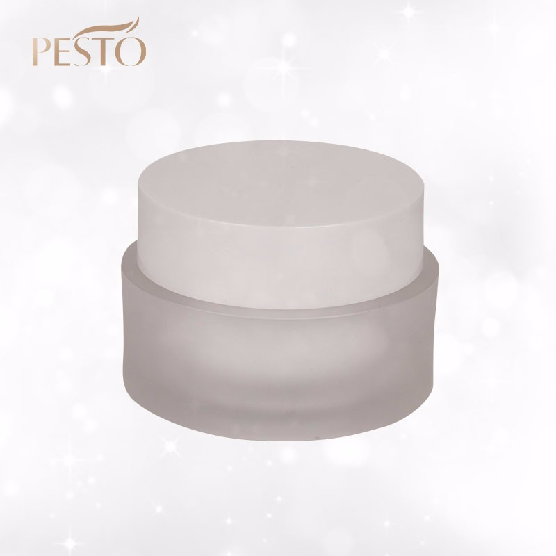 Wholesale cosmetic frosted acrylic cream jar 50g