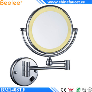 Beelee BM1408TF Double Sided 5X Magnifying Bathroom Cosmetic Ladies Makeup Mirror
