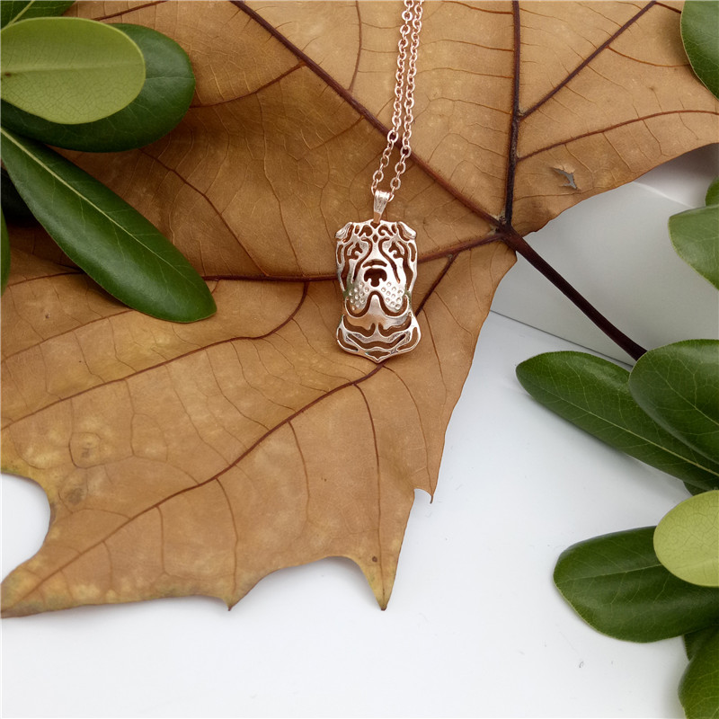 Elfin Wholesale 2017 Trendy Chinese Shar Pei Necklace Gold Color Silver  Color Dog Jewellery Pendant Necklace Women steampunk - us575 cfc3258ccb2